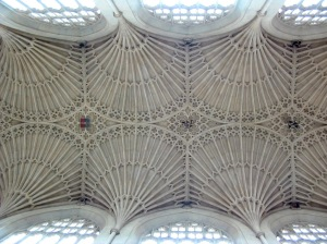 Fan vaulting in Bath Abbey